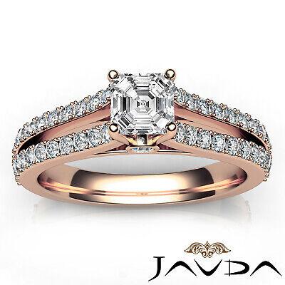 Asscher Cut Prong Set Diamond Womens Engagement Ring GIA G VS2 Platinum 1.15Ct 11