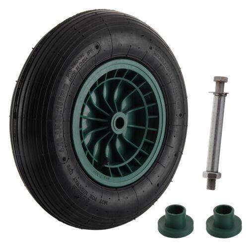 Roue gonflable 360mm pneu chariot jante remorque brouette for Pneu use exterieur