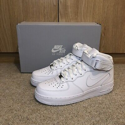 Nike Air Force 1 Mid '07 White Trainers Shoes Sneakers - All Sizes