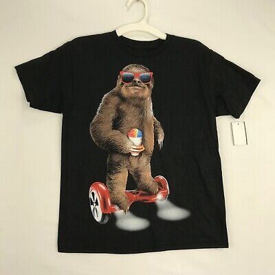 Berzy Kids Size Small Graphic Tee Shirt Sloth Sunglasses with Shave Ice (Sloth With Sunglasses)