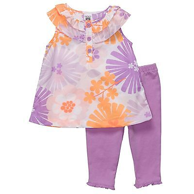 Carter's 2 Piece Floral Tiered Tunic & Leggings Set  ~ New With Tags