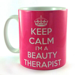 NEW-KEEP-CALM-IM-A-BEAUTY-THERAPIST-GIFT-MUG-CUP-AND-CARRY-ON-THERAPY-PRESENT