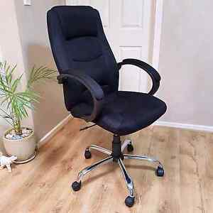 Plush high back black and chrome office chair Salisbury Downs Salisbury Area Preview