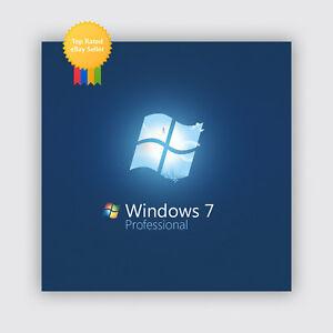 Windows 7 Professional Pro OEM Product Key (64 32 Bit Multilingual)