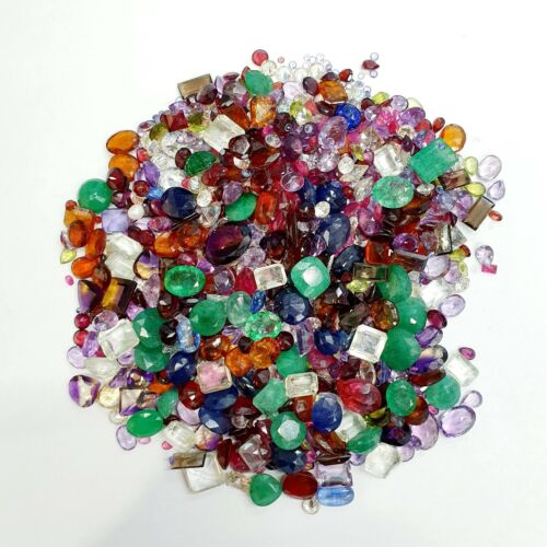 Over 100 Carats of Natural Gemstones Mix Loose Faceted Mini Parcel Lot SS 2000