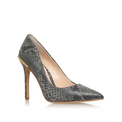 Vince Camuto NALDA Grey Snake Print Court Shoes UK 3 EU 36...