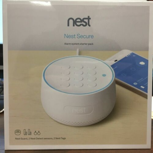 Nest Secure Wireless Alarm System Starter Pack Indoor Wireless FACTORY SEALED!!