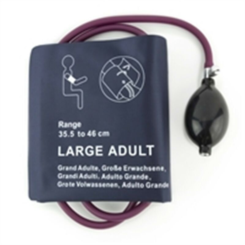 PM Manual Inflation System Reusable Cuff w/Inflation System - Large Adult