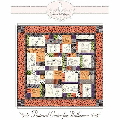 Postcard Cuties for Halloween Quilt Pattern by Bunny Hill - Designs For Halloween