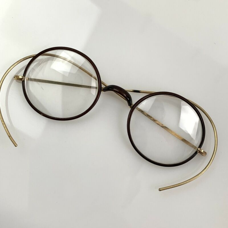 Antique Shure On Gold Filled Spectacles Windsor Style 1920s
