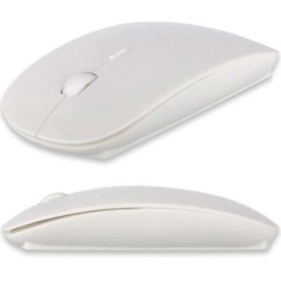 Mac Wireless Mouse - 2.4GHz USB Wireless Optical Mouse Mice for Apple Mac Macbook Pro Air PC White US