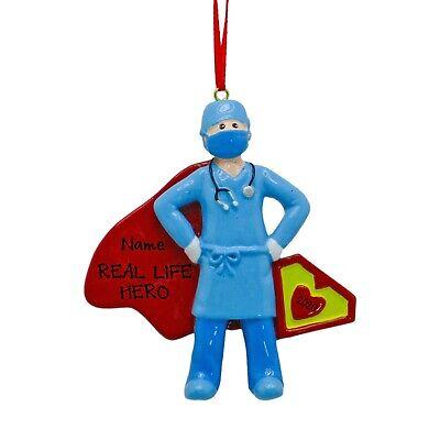[Personalized Quarantine Pandemic Super Nurse Christmas Tree Ornament</Title]