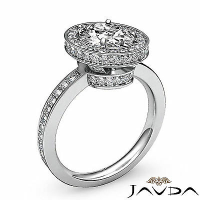 Crown Halo Pave Set Oval Cut Diamond Engagement Ring GIA Certified F VS2 1.82Ct 1