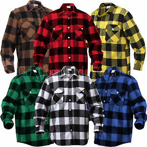 Extra heavyweight brawny buffalo plaid flannel shirt long for Buffalo plaid men s shirt