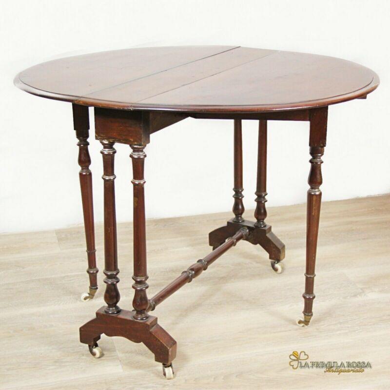 Tavolino tavolo antico a bandelle da salotto per soggiorno ...