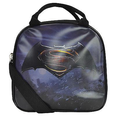 New Batman VS Superman Shield Lunch Box Carry Bag & Bottle Water School Supplies (Batman School Supplies)