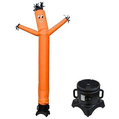 Mounto 10ft Air Inflatable Dancing Wind Dancer Sky Dancer With Blower Orange