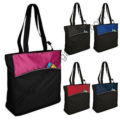 Zipper Tote Bag Book Shopper Teacher Nurse Purse Handbag - Teacher Tote Bags