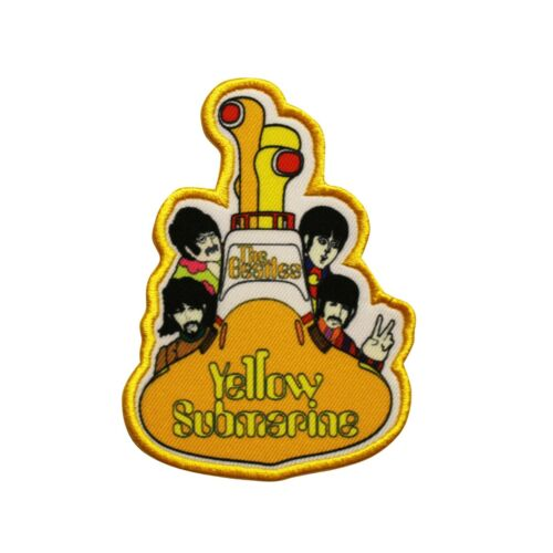 The Beatles Yellow Submarine Sub All Aboard Printed Sew On Patch -  074-R