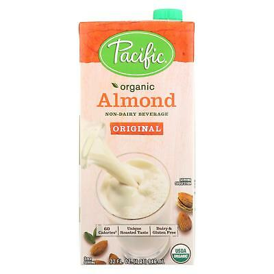 Pacific Natural Foods Non-Dairy Almond Beverage, Case of 3, 32 Fl oz. Almond Non Dairy Beverage