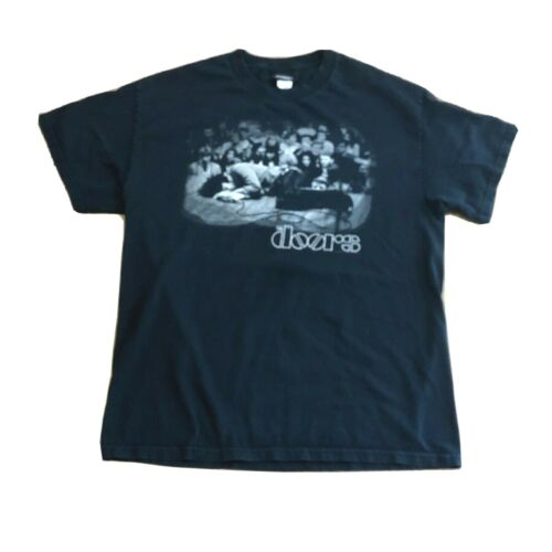 The Doors Jim Morrison Laying on Stage Winterland Black T-Shirt Mens Large 2006