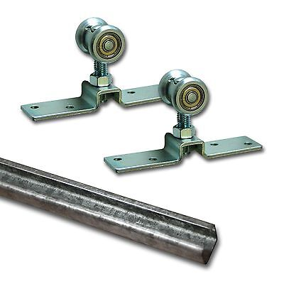 Set aus Beschlag + Laufschiene 3,00 m Rollen NEU Schiebetürsystem  (30078+30073)
