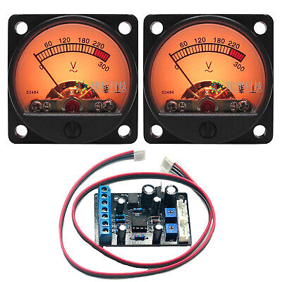 2pc Db Level Ac Voltmeter Vu Meter Wbacklight 1pcta7318p Vu Meter Driver Board