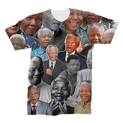 (Nelson Mandela Photo Collage T-Shirt )