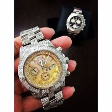 Iced out Breitling super avenger Broadbeach Gold Coast City Preview