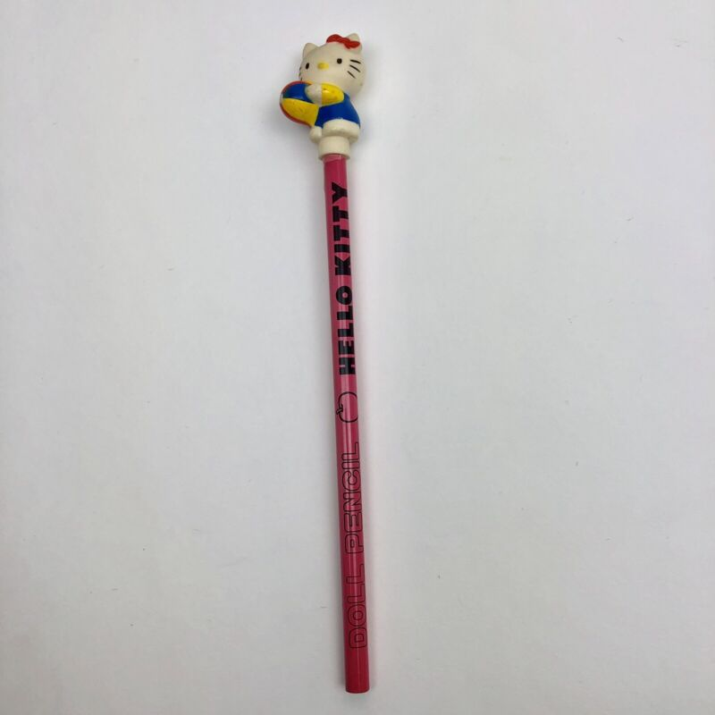 Vintage 1985 Hello Kitty Pencil with Topper NEW Rare 80s