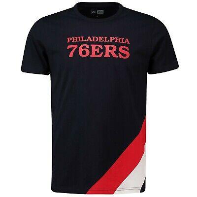 G26 Mens 2XL Philadelphia 76ers New Era Retro Stripe T-Shirt