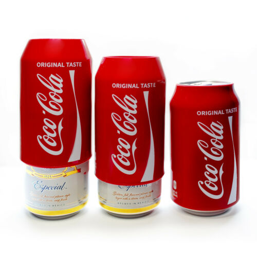Hide a beer,Silicone Beer Can Covers,Red Coca Cola Sleeve(3 Pack)