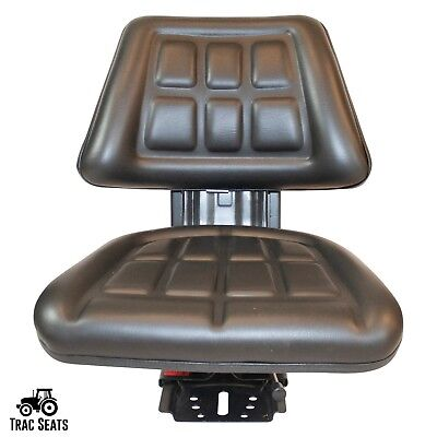 Black Tractor Suspension Triback Seat Fits Ford New Holland 5100
