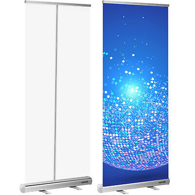 Vevor Aluminum 33.5 X 80 Retractable Roll Up Banner Stand Trade Show Display