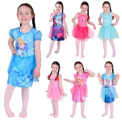 Girls Official Ballerina Princess Dress - Disney Frozen Peppa Pig Fancy Dress Up - Ballerina Dress Up Clothes