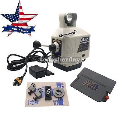 X-axis Electronic Power Feed Milling Drill Machine 200rpm 450in-lb 110v Us Stock
