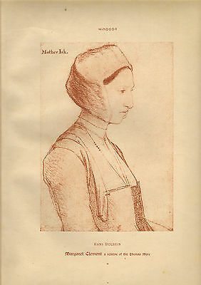 large reproduced  portraits from  the court of henry v111. mary clement