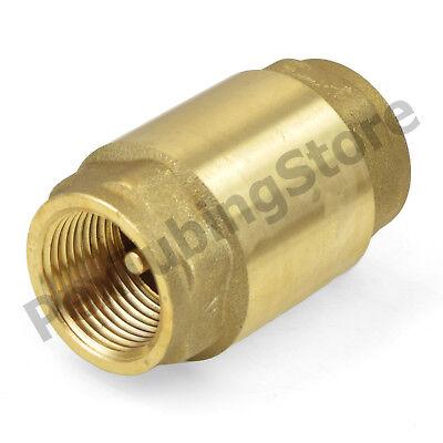12 Fnpt Threaded Lead-free Brass Spring Check Valve 200 Wog