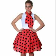 Womens Red Polka Dot Skirt