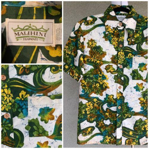 Malihini Vintage 70s Hawaiian Cotton Shirt