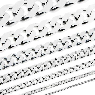 echt 925 Sterling Silber Kette PANZERKETTE Königskette Collier Halskette MASSIV
