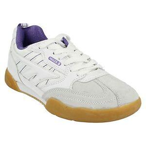 Donna-Hi-Tec-Squash-Classic-Scarpe-da-ginnastica-con-lacci-bianco-violetto-35642