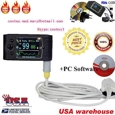Usa Handheld Pulse Oximeter Spo2 Monitorveterinaryblood Oxygencms60csoftware