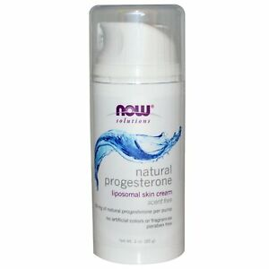 Now Foods, Natural Progesterone, Liposomal Skin Cream, 3 oz (85 g)