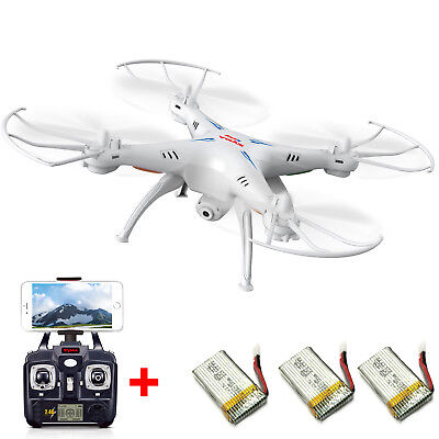 Syma X5SW RC Quadcopter 2.4Ghz 4CH Wifi FPV Drone HD Camera with 3 Batteries