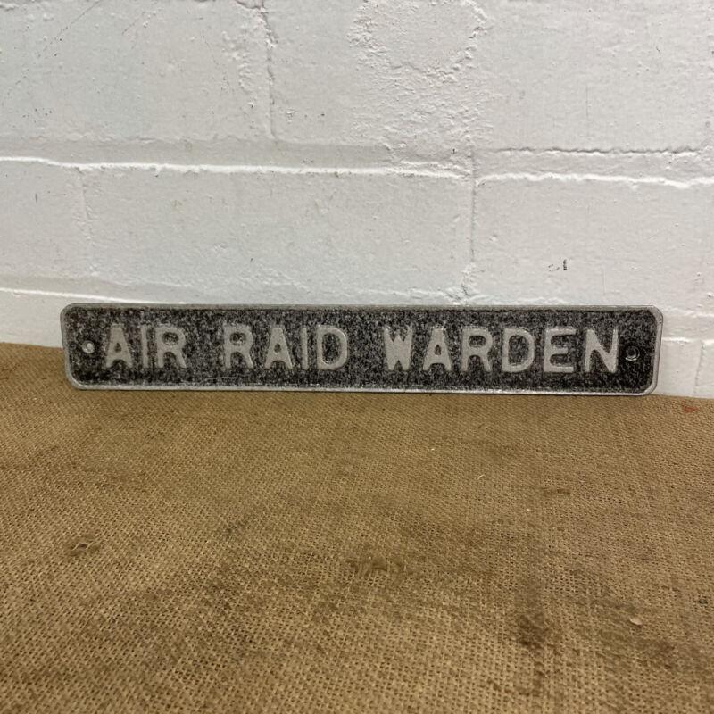 WW2 Air Raid Warden ARP Home Front Sign Original