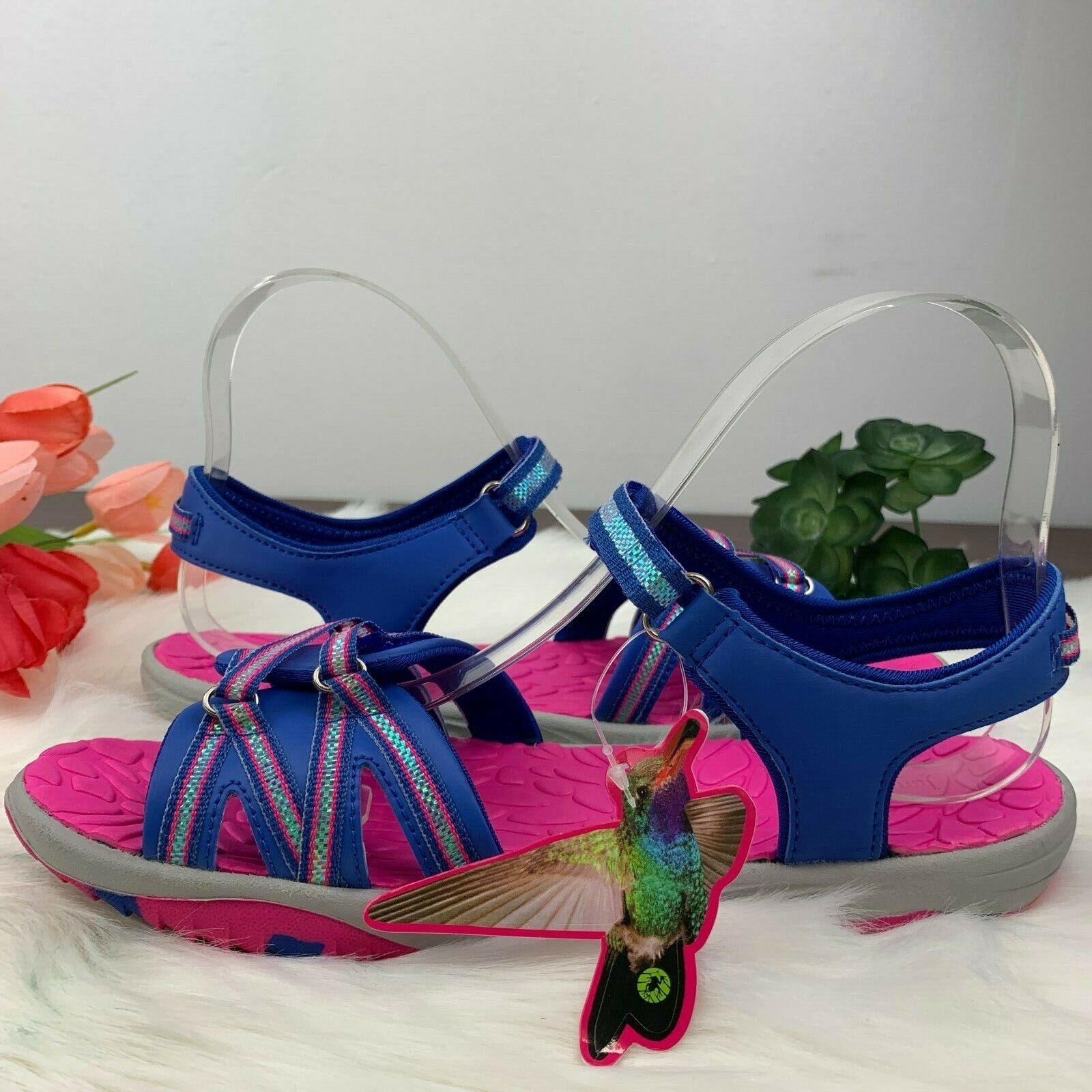 Jambu Girls Lowi NonSkid All Terrain Water Gray/Blue/Pink Sa