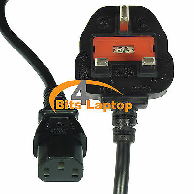 C13 1.8m Power Mains Cable For LG Sony Philips LCD TV Computer Adapter Printer ()