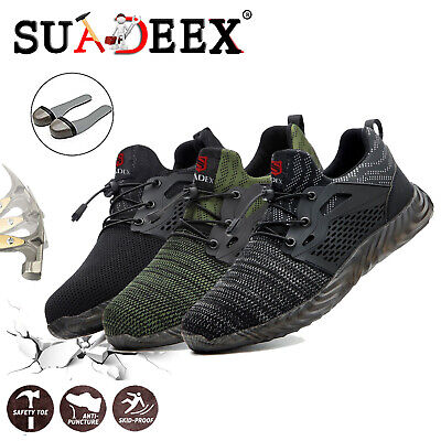 Men Work Safety Shoes Steel Toe Bulletproof Boots Indestructible Hiking Sneakers