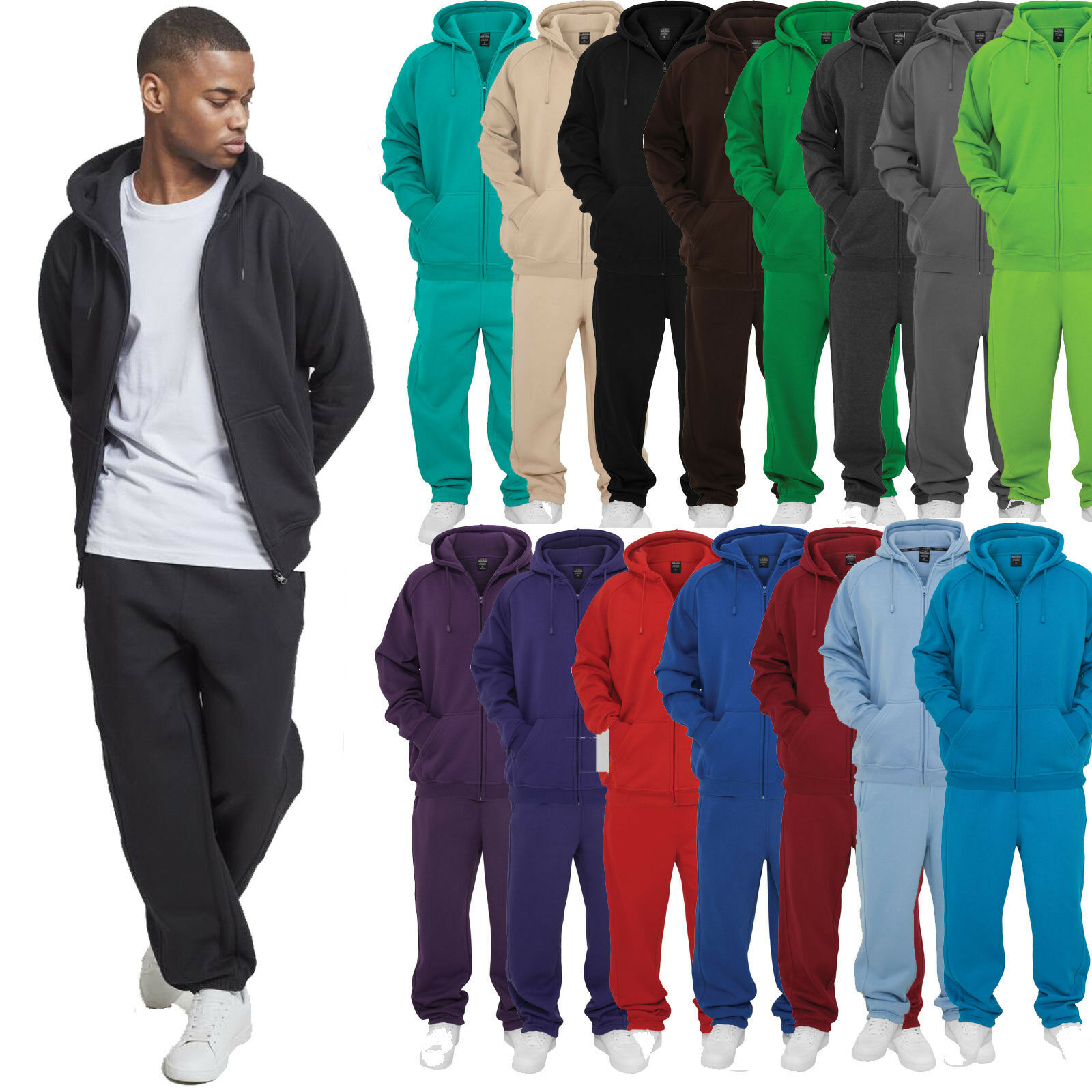 Details about Urban Classics Blank Suit Jogging Suit Leisure Suit Sweat Suit Cotton Fabric